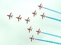 Red Arrows Over Poole Harbour