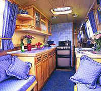 Typical Narrowboat Interior
